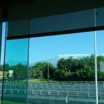 Volcán muy clarito que se vio por la mañana