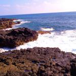 lava and waves near the beach- gorgeous