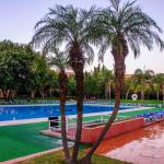 A beautiful and large, pool area