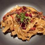 Rye Pasta with reindeer and wild berries