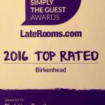 Simply the guest award from laterooms!