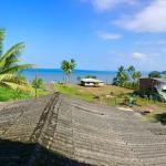 Disfrutando una excelente vista desde el mirador de la posada, sol, playa y brisa