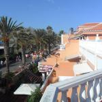Utzicht vanaf onze balkon