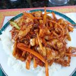 Excellent Spicy Chicken Garlic over rice!