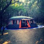 Camping at the campsite of Pedernales Falls State Park