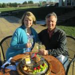 Celebrating Anniversary at Pollak - Chris provided the cheese platter!
