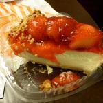 Junior's strawberry cheesecake