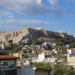 View from the balcony of the Electra Palace Hotel in Athens