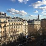 View from 6th floor room, Avenue Marceau