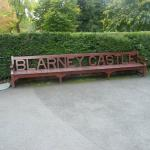 Bench on the grounds of the blarney castle