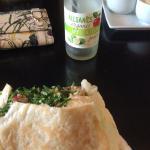 yummy falafel! and feijoa juice.  mmmm.