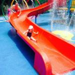 One of the many water slides for little ones