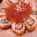 裏巻(焼いた鮭はらす/胡瓜/飛び子/乗り/イクラ/胡麻)