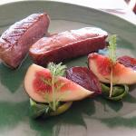 Duck with fig