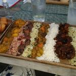 The Sampler, Rice and Peas, Curry, Oxtails