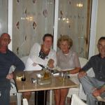 relaxing evening in zante maris with friends.
