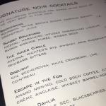 The cocktail menu