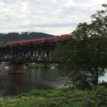 Double-decker bridge over the Mosel