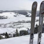 Skiing at the ranch & a bird's eye view of it