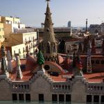 Vyn från takterrassen Hotell Gaudi