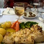 o prato de bacalhau