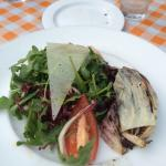 Arugula and grilled radicchio salad