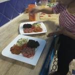 Making Special Moroccan salad