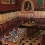 Traditional Moroccan decor and seating in Restaurant Ramsess