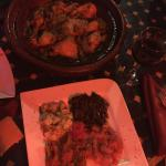 Moroccan salad and chicken tagine in Ramsess