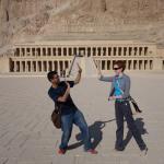 In front of Hatshepsut's temple