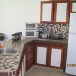 Kitchen area in the villa