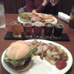 Dinner and beer sampler