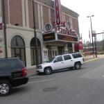 Old historic theater across the street