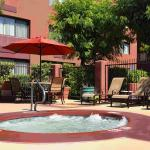 Enjoy the refreshing atmosphere in our outdoor hot tub.