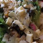 Salada , Risoto Vegetariano e fotos do salão