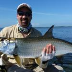 2015 Nice size Tarpon on Fly in the afternoon light