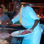 Miguel en plein travail au restaurant La geisha