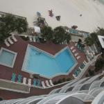 Pool View from Top floor balcony