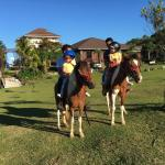 Riding the resident Ponies