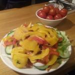 Good salad, but no apples for ages now