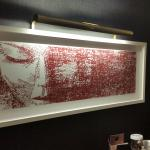 Very cool art in the room