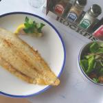 Dover Sole and Salad