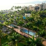 Beautiful view of the Pacific Ocean and the Plaza at the Riu Vallarta from room 6063