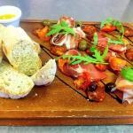 Sharing meats platter