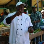 Chef Maurice on market tour