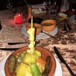 Repas au restaurant marocain