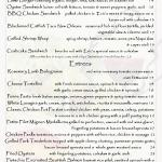 Page two of our fresh winter menu