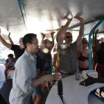 A party on the catamaran