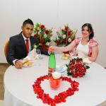 decorazioni del tavolo sposi