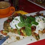 Egg & Bacon Bruscetta - yum.